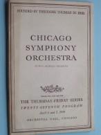 CHICAGO SYMPHONY ORCHESTRA Twenty-Seventh Program April 6 & 7 ( Fifty-Ninth Season ) 1950 !! - Programma's