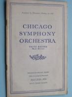 CHICAGO SYMPHONY ORCHESTRA Twenty-Eight Program April 22-23 ( Sixty-Third Season ) 1954 !! - Programma's