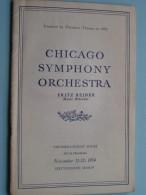 CHICAGO SYMPHONY ORCHESTRA Fifth Program Nov 11-12 ( Sixty-Fourth Season ) 1954 !! - Programma's