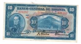 Bolivia 10 Bolivianos, 1928, Xf ,  FREE SHIP. To U.S.A. - Bolivia