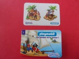Mini Livre Playmobil, Les Pirates Et Le Trésor, 2 Autocollant, Bateau, Gervais - Playmobil