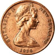 Monnaie, Nouvelle-Zélande, Elizabeth II, 2 Cents, 1974, TTB+, Bronze, KM:32.1 - Nouvelle-Zélande