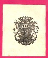 EX-LIBRIS ANCIEN  - FORMAT (9 X 11 Cm) . - Ex Libris