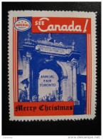 Annual Fair Toronto IMPERIAL Oil Touring Road Map Poster Stamp Label Vignette Viñeta CANADA Christmas - Vignette Locali E Private
