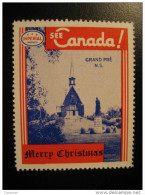Grand Pre N.S. Toronto IMPERIAL Oil Touring Route Road Map Poster Stamp Label Vignette Viñeta CANADA Christmas - Vignette Locali E Private