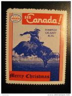 Stampede Calgary Alta Horse Toronto IMPERIAL Oil Touring Road Map Poster Stamp Label Vignette Viñeta CANADA - Vignette Locali E Private