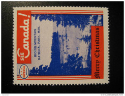 Riding Mountain National Park Toronto IMPERIAL Oil Touring Road Map Poster Stamp Label Vignette Viñeta CANADA - Vignette Locali E Private
