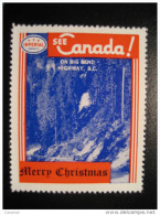 On Big Bend Highway BC Toronto IMPERIAL Oil Touring Road Map Poster Stamp Label Vignette Viñeta CANADA Christmas - Vignette Locali E Private