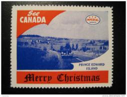 Prince Edward Island Toronto IMPERIAL Oil Touring Road Map Poster Stamp Label Vignette Viñeta CANADA Christmas - Vignette Locali E Private