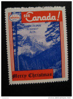 Banff Jasper Highway Alta Toronto IMPERIAL Oil Touring Road Map Poster Stamp Label Vignette Viñeta CANADA - Vignette Locali E Private