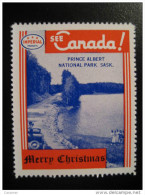 Prince Albert National Park Sa Toronto IMPERIAL Oil Touring Road Map Poster Stamp Label Vignette Viñeta CANADA - Vignette Locali E Private