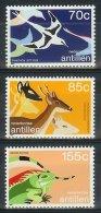 Mtx0879 FAUNA VOGELS HERT REPTIEL LEGUAAN BIRDS DEER IGUANA NEDERLANDSE ANTILLEN 1987 PF/MNH - Antillen