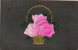 Fantaisie Gaufrée (Relief)  Rehaussée Or -  Panier Fr   Fleurs  -  Art Nouveau    (86771) - Fantaisies