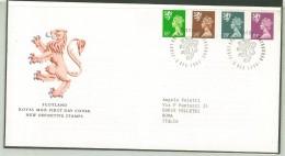FDC SCOTLAND - SCOZIA -  ANNO 1991 - ROYAL MAIL - EDINBURGH  - NEW DEFINITIVE STAMPS - - FDC