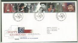 FDC SCOTLAND - SCOZIA -  ANNO 1992 - ROYAL MAIL - EDINBURGH - HAPPY GLORIOUS - THE FORTIETH ANNIVERSARY OF THE ACCESSION - FDC
