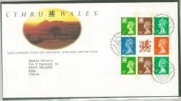 FDC WALES - GALLES - ANNO 1992 - ROYAL MAIL - EDINBURGH - CYMRU-WALES - AMLEN DIWRNOD CYNTAF Y POST BRENHINOL - - FDC