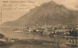 LECCO - Panorama E Monte S.Martino (cachet Grand Hôtel Lecco Au Dos De La Carte).. - Lecco
