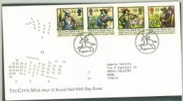 FDC GRAN BRETAGNA - GREAT BRITAIN - ANNO 1992 - ROYAL MAIL - EDINBURGH -  THE CIVIL WAR 1642 - 1651 - - FDC