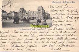 CPA BRUXELLES NELS SERIE 1 No  2 LA GARE DU NORD - Spoorwegen, Stations