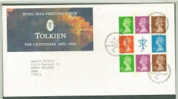 FDC GRAN BRETAGNA - GREAT BRITAIN - ANNO 1992 - ROYAL MAIL - TOLKIEN - THE CENTENARY - 1892-1992 - EDINBURGH - - FDC