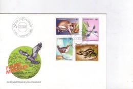 Luxembourg 1987-Libellule,oiseaux,lézard;rongeur...FDC - Timbres