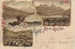 Arth-Goldau - Farbige Litho - Arth, Lowerzer See, Goldau U. Rigi - SZ Schwyz