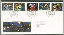 FDC GRAN BRETAGNA - GREAT BRITAIN - ANNO 1992 - ROYAL MAIL - CHRISTMAS 1992 - CYKNTAF BUTHLEHEM LLANDEILO DYFED - - FDC