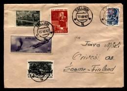Russia 1947 Letter Tallinn To Helsiniki - 1923-1991 USSR