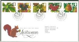 FDC GRAN BRETAGNA - GREAT BRITAIN - ANNO 1993 - ROYAL MAIL - AUTUMN - AUTUNNO - SCOIATTOLO - GHIANDE - TAUNTON - - FDC