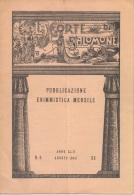 """05264 """"LA CORTE DI SALOMONE - PUBBLICAZIONE ENIMMISTICA MENSILE -  ANNO XLII - N. 8 - AGOSTO 1942 - XX"""" ORIGINALE - Giochi"""