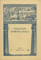 """05265 """"LA CORTE DI SALOMONE - PUBBLICAZIONE ENIMMISTICA MENSILE -  ANNO XL - N. 2 - FEBBRAIO 1940 - XVIII"""" ORIGINALE - Giochi"""
