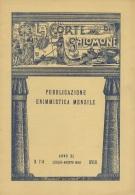 """05266 """"LA CORTE DI SALOMONE - PUBBLICAZIONE ENIMMISTICA MENSILE -  ANNO XL - N. 7-8   LUG.- AGO. 1940 - XVIII"""" ORIGINALE - Giochi"""