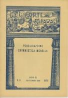 """05267 """"LA CORTE DI SALOMONE - PUBBLICAZIONE ENIMMISTICA MENSILE -  ANNO XL - N. 9 - SETTEMBRE 1940 - XVIII"""" ORIGINALE - Giochi"""