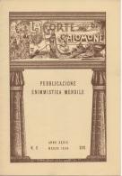 """05268 """"LA CORTE DI SALOMONE - PUBBLICAZIONE ENIMMISTICA MENSILE -  ANNO XXXIX - N. 3 - MARZO 1939 - XVII"""" ORIGINALE - Giochi"""