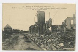 CPA: 51 - HEILZ-LE-MAURUPT - GUERRE 1914-15 RUE DE RENNES, LE TEMPLE PROTESTANT...... - Other Municipalities