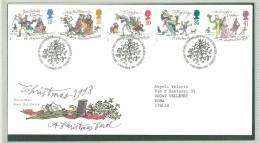 FDC WALES - GALLES - ANNO 1993 - ROYAL MAIL - CHRISTMAS 1993 - A CHRISTMAS CAROL - CYNTAF BETHLEHEM - LLANDEILO - FDC