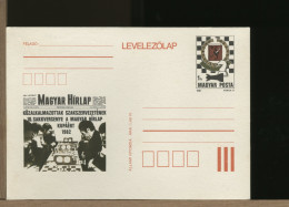 MAGYAR - Intero Postale - HIRLAP -  SCACCHI - SZACHOWY - CHESS - ECHECS - SCHACH - OROLOGIO SEGNATEMPO CLOCK - Scacchi