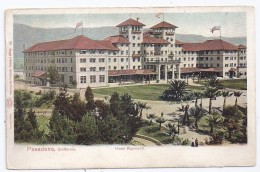 CPA Auto-chrome Pasadena  Californie California Hotel Raymond Edit Goeggel & Weidner à San Francisco  Writen Simple Back - Estados Unidos