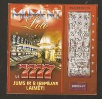 Latvia Latvian Moment Lottery Ticket Scratch - 7777 - Lottery Tickets