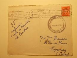 Marcophilie - Lettre Enveloppe Cachet Oblitération Timbres - FRANCE - Cachet Militaire 1957 (294) - 1921-1960: Periodo Moderno