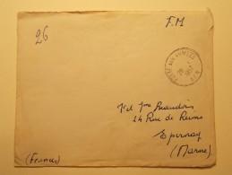 Marcophilie - Lettre Enveloppe Cachet Oblitération Timbres - FRANCE - Cachet Militaire AFN 1957 (295) - Postmark Collection (Covers)