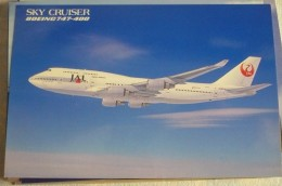 AIRLINES ISSUE / CARTE COMPAGNIE       JAL  B 747 400 - 1946-....: Moderne