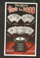 Latvia Latvian Moment Lottery Ticket Scratch - BlackJack - Billets De Loterie