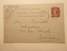 Marcophilie - Lettre Enveloppe Cachet Oblitération Timbres - FRANCE - Entier Postal 1924 (298) - 1921-1960: Période Moderne