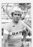 Joachim AGOSTINHO, Autographe Manuscrit (peu Visible Au Scan) . 2 Scans. Cyclisme. Lire Descriptif. Flandria Ca Va Seul - Cyclisme