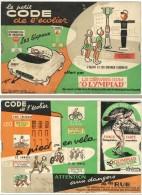 """Le Petit Code De L'écolier Offert Par Les Chewing-gum """" Olympiad """" ( Code De La Route ), Avec Système Coulissant - Publicités"""