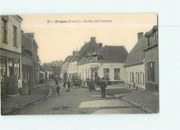 FRUGES - Rue Des FONTAINES  Avec  Beau Plan Animé - TBE - Ed. Paul Boulanger - 2 Scans - Fruges