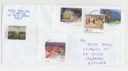 GOOD GREECE Postal Cover To ESTONIA 2016 - Good Stamped: Ships ; Sea Life ; Rocks - Greece