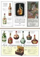 Dépliant Catalogue 3 Volets : Les Liqueurs Cusenier - Publicités