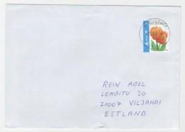 GOOD BELGIUM Postal Cover To ESTONIA 2014 - Good Stamped: Flowers - Belgium